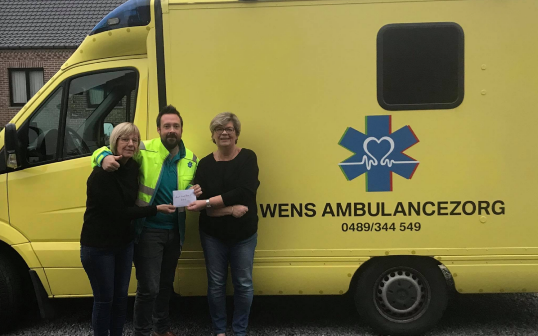 Wensambulance donatie van Linda